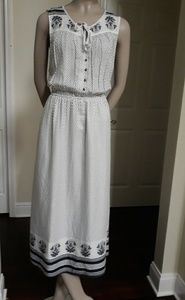 NWOT Lucky Brand Polka dots Maxi Dress Size L
